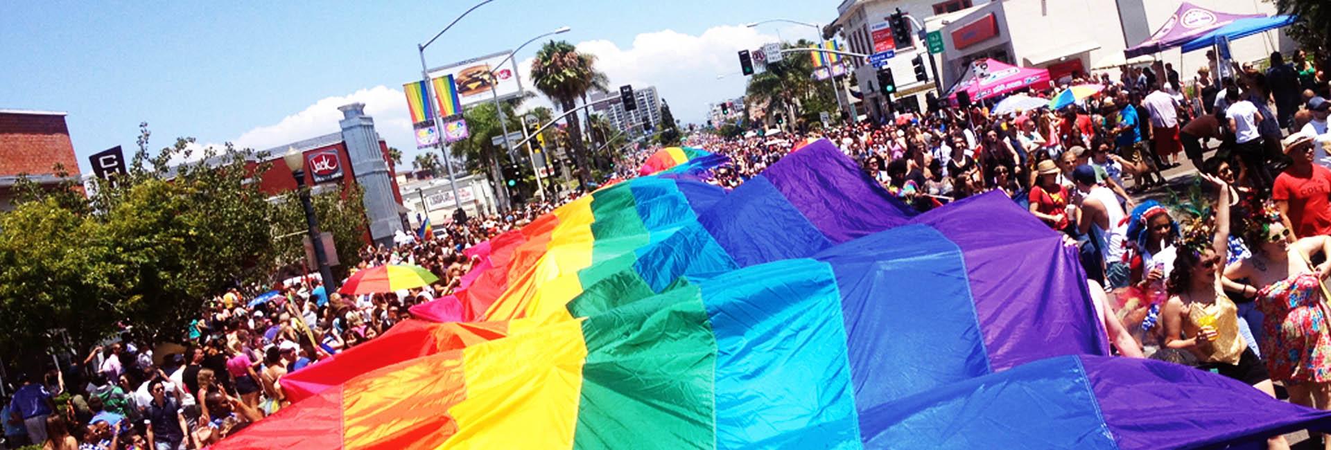 Pride Parade Flag